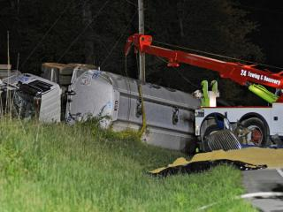 A Stokes County man was charged with DWI and commercial DWI Friday evening after the tractor-trailer he was driving crashed on U.S. Highway 56 in Granville County.