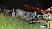 IMAGES: Man charged with DWI in Granville County tractor-trailer crash