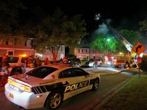 Fire damaged several homes on Rippling Stream Road in Durham early Tuesday, witnesses said.