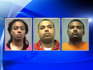 Northampton County deputies Ikeisha Jacobs, Jason Boone and Curtis Boone