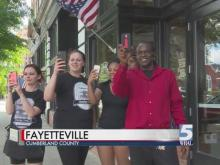 Families of those killed in police custody march in Fayetteville