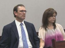 Matthew Kohr and his wife were in court Monday, May 5, 2015, as a jury was seated to hear his civil case against Starbucks.