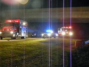 An unidentified pedestrian died early Tuesday after being hit by a tractor-trailer on U.S. Highway 1 in Moore County, according to the State Highway Patrol.  (Photo courtesy Billy Marts)