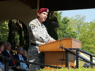 Stephen J. Townsend was promoted Tuesday to command the post where he began his military career. Lt. Gen. Townsend assumed command of Fort Bragg from outgoing Lt. Gen. Joseph Anderson during a change of command ceremony Tuesday morning.