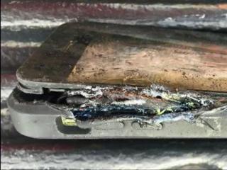 Burned cellphone