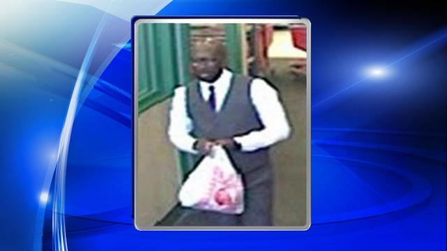 Wake Forest police on Thursday released pictures of a man wanted for questioning in credit card fraud.