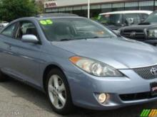 Police said Michael Sutton fled the shooting scene in a light blue, two-door 2005 Toyota Solara. (Photo is of a similar model)
