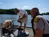 Officers patrol waterways