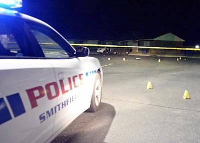 Two people were hurt early Sunday during a shooting at a Smithfield apartment complex.