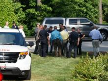 Local, state and federal investigators look into a package that exploded inside a vehicle in Apex Thursday afternoon.
