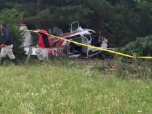 Two people were seriously hurt early Tuesday when a small plane crashed while trying to land at Siler City Municipal Airport, according to investigators with the North Carolina State Highway Patrol.