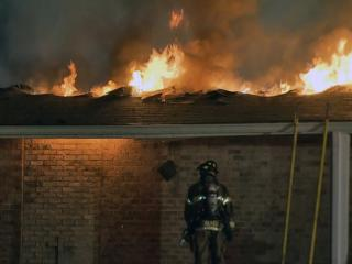 Fire ripped through a church in southeast Raleigh early Wednesday, causing heavy damage to several classrooms and the sanctuary.
