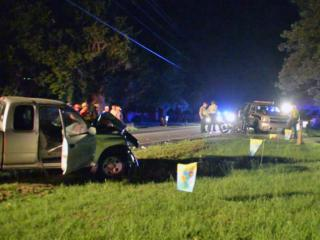 One person was killed late Thursday when a motorcycle and truck were involved in a wreck on N.C. Highway 210 near Interstate 40, investigators with the North Carolina State Highway Patrol said.