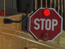 School bus stop sign