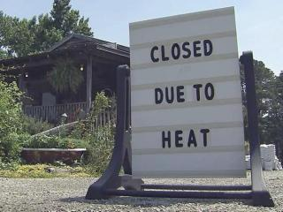 A Raleigh businessed closed early Tuesday, June 24 due to the extreme heat.
