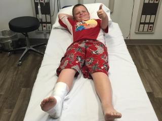 Brady Noyes was not seriously hurt after being attacked by a shark at Surf City. Photo courtesy of the family.