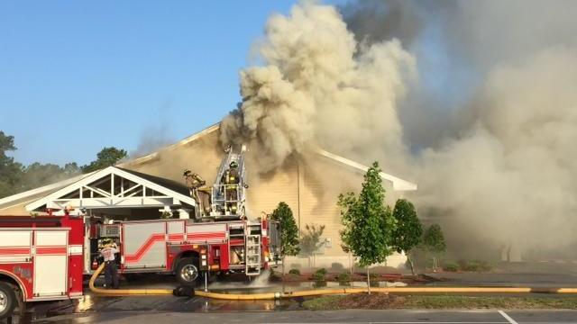 Fire destroyed a new wing of the Gibson Cancer Center in Lumberton early Saturday morning, according to officials from Southeastern Health.