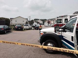 A portion of a Fayetteville apartment complex was evacuated Wednesday as police tried to persuade a man barricaded inside an apartment to come out.