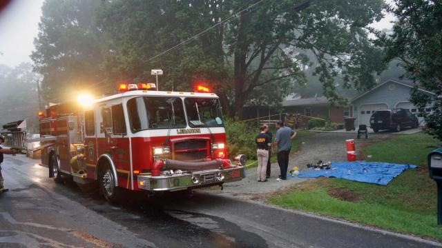 Two people were injured early Friday in a house fire in northern Durham County, officials said.