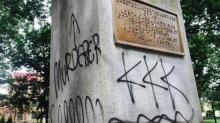 UNC-CH statue tagged