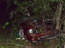 Three people died and others were injured when a car swerved off Buck Road in Johnston County.