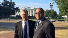 Fayetteville Police Chief Harold E. Medlock at White House