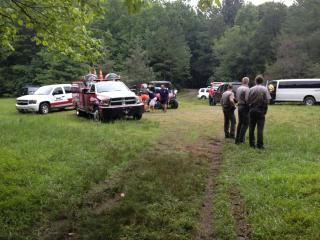 Authorities searched for a missing swimmer on July 23, 2015 in the Eno River.