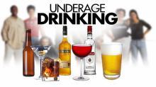 Underage drinking graphic