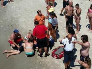 A Raleigh man was critically injured when he fell off the Bogue Inlet Fishing Pier in Emerald Isle on July 26, 2015. (Photo courtesy: Perry Alexander)