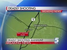 Manhunt for suspected gunman moves to Zebulon