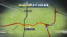 IMAGE: Fortify project to limit lanes on I-40 East in Raleigh