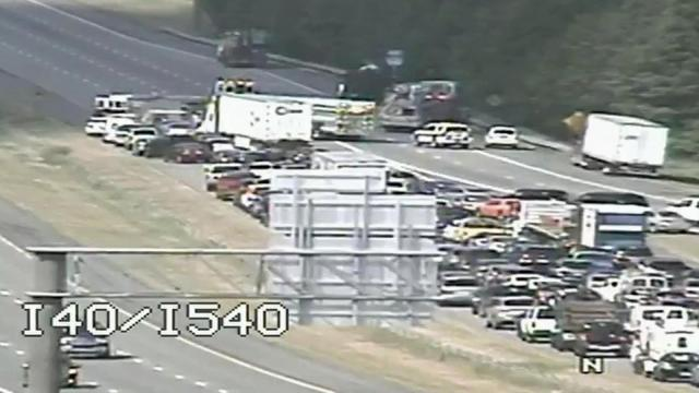 A head-on collision on Interstate 540 closed all eastbound lanes at I-40 Monday afternoon for about three hours.