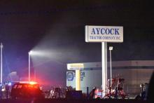 Firefighters were called to the Aycock Tractor Company in Goldsboro Tuesday night, according to fire officials.