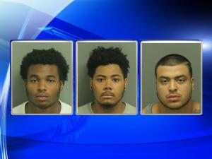 Charged in connection with the shooting death of 13-year-old Keyshawn Gregory are: (from left) Malik Armein Jones, 19, Jamal Christopher Howie, 19, and Jonathan Dejesus Chavez, 18.