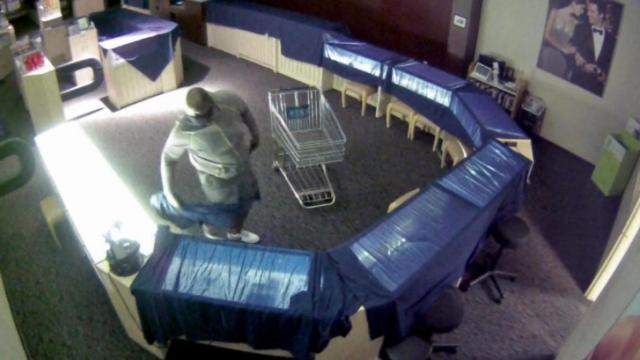 Smithfield police are asking for the public's help to identify a man who broke into a Kay Jewelers store at the Carolina Premium Outlets.
