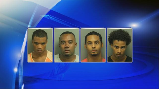 Safari Malik Greene, 16, of Wendell; Javon Tyrell Williams, 25, 0f Raleigh; Bryan Elliot Beatty, 24, of Raleigh; and Jordan Anthony Gray, 20, of Wendell, were each charged with robbery with a dangerous weapon and conspiracy to commit armed robbery.