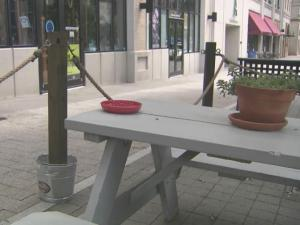 Two weeks after Raleigh's new rules on sidewalk seating for bars and restaurants took effect, the city has issued 20 warnings and one bar owner is facing a court date.