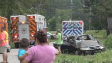 IMAGES: Johnston County teens injured in single-vehicle crash