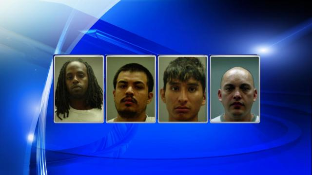 Eight people were arrested Thursday in Edgecombe County following the seizure of cash and more than a kilo of cocaine.