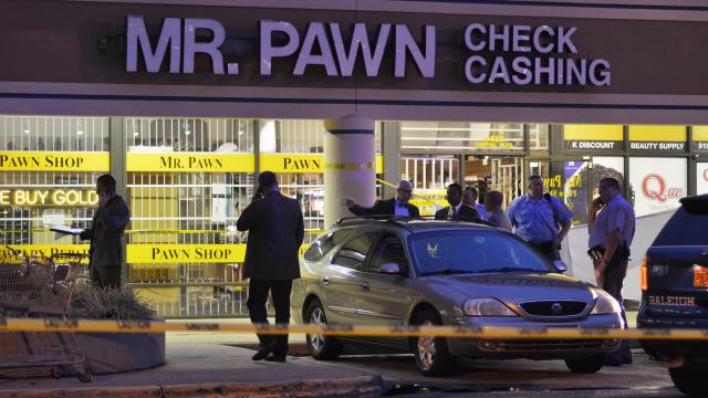 One person is dead following a shooting at the Mr. Pawn Check Cashing shop Monday night.