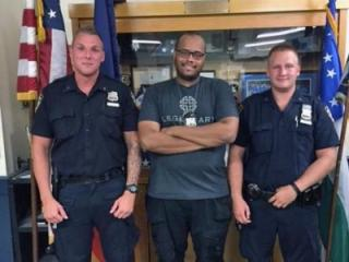 New York City police officers Erik Skoglund, Adam Riddick and Andrew Vlasaty (left to right) are credited with helping arrest a Raleigh man wanted in two shootings, one of which was fatal, and a rape.