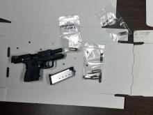 Officers recovered two handguns from Keyanti Gregory's vehicle when he was taken into custody in New York City.
