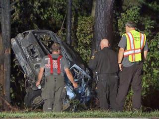 Bees slowed emergency responders Thursday morning as they tried to help a man who crashed his car on Pine Grove-Wilbon Road in Holly Springs.