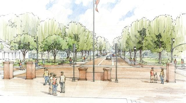 Rendering of Academy Street in downtown Cary