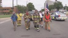IMAGES: North Carolina firefighters finish three-day walk in honor of 8-year-old