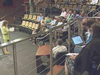 Wednesday night's meeting was part of a very preliminary phase of a rezoning proposal at Carpenter Fire Station Road but dozens of people living near the area are already unhappy about it.
