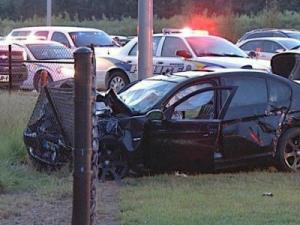 A woman was killed and three men were seriously injured Wednesday evening in a wreck near the popular White Oak Shopping Center in Garner, police said.