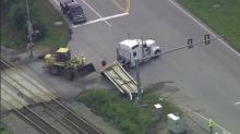 IMAGE: Amtrak train hits flatbed truck at NC-Va line