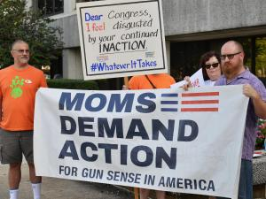 People gathered across the country Thursday with the message that gun laws need to change.  A rally in downtown Raleigh was held outside Senator Thom Tills' office as part of the national day of action.