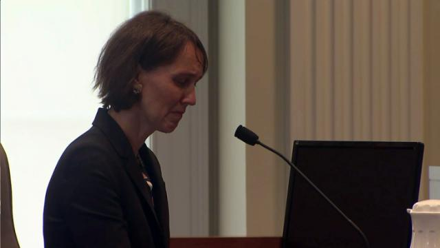 Lawyer Cassandra Stubbs testifies on Sept. 11, 2015, during her North Carolina State Bar disciplinary hearing.